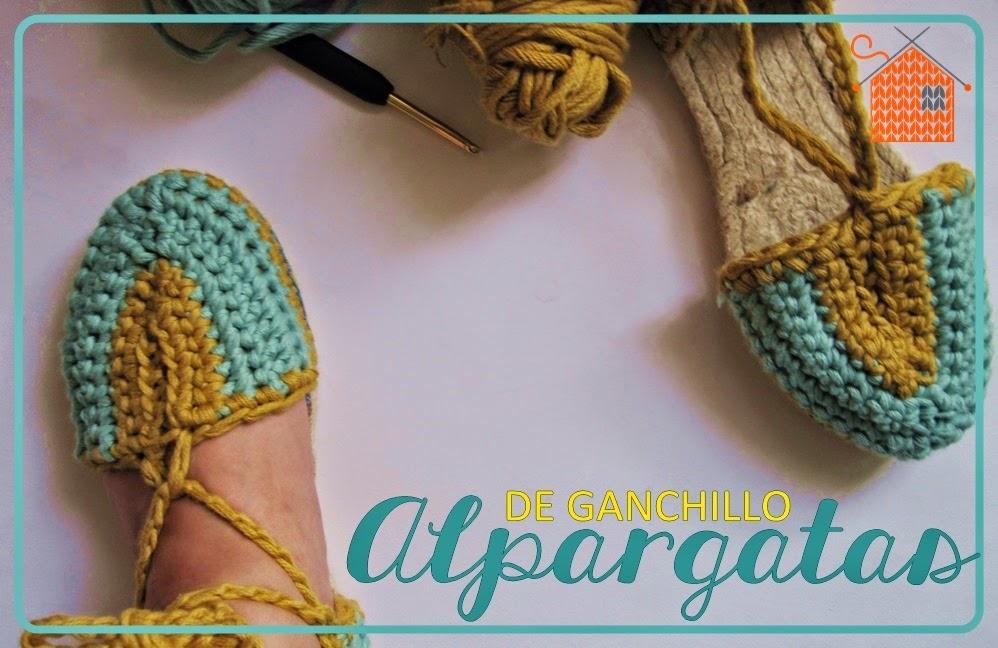 Alpargatas de Ganchillo - Handbox Craft Lovers   Comunidad DIY ...