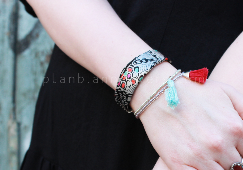 Plan B anna evers DIY Fabric leftover bracelet