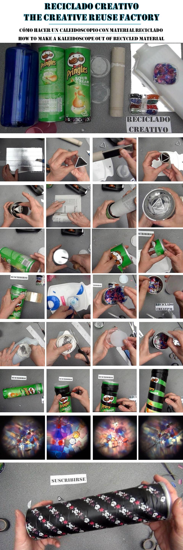 Cómo hacer un caleidoscopio con botes de pringles