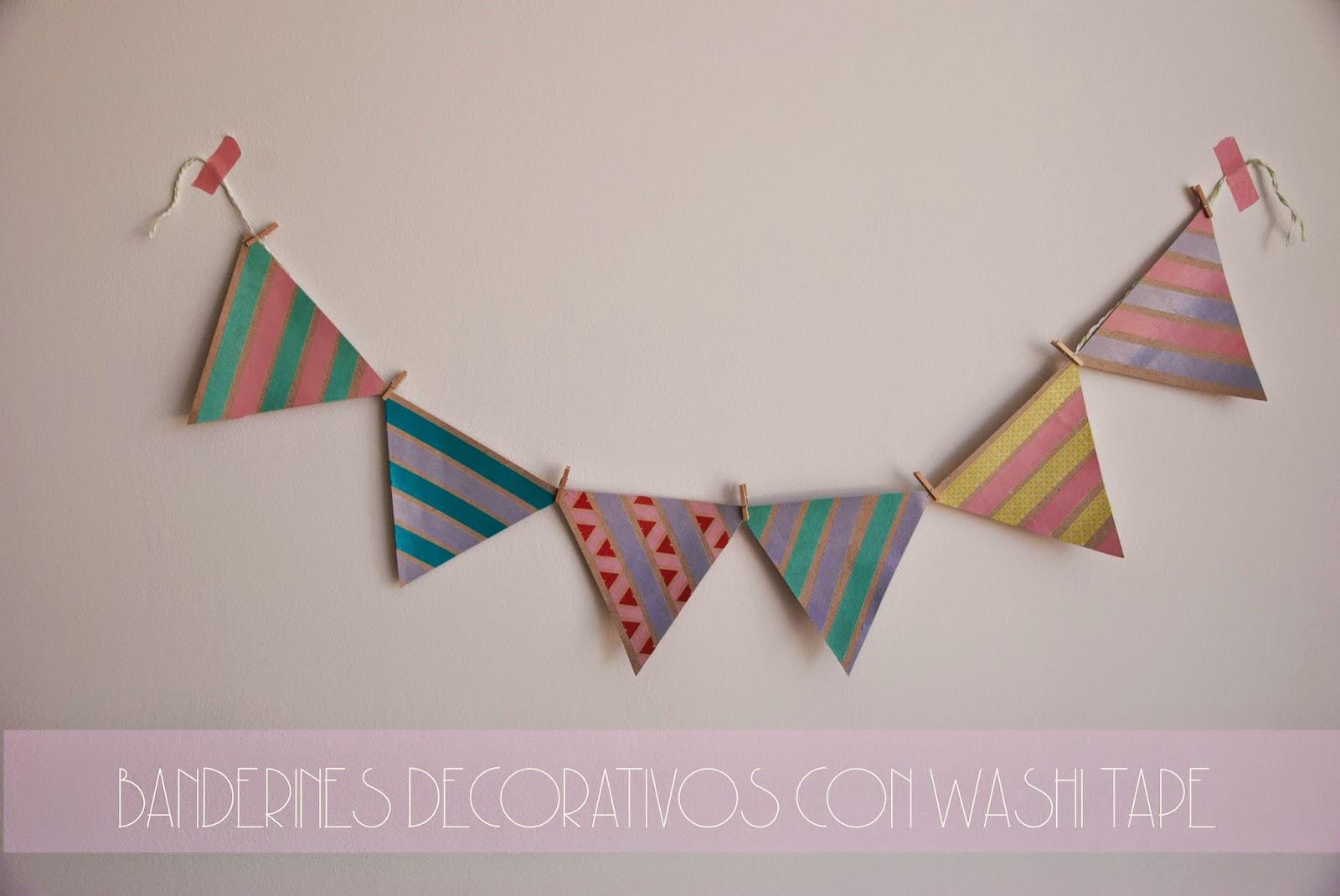 foto tutorial banderines washi tape