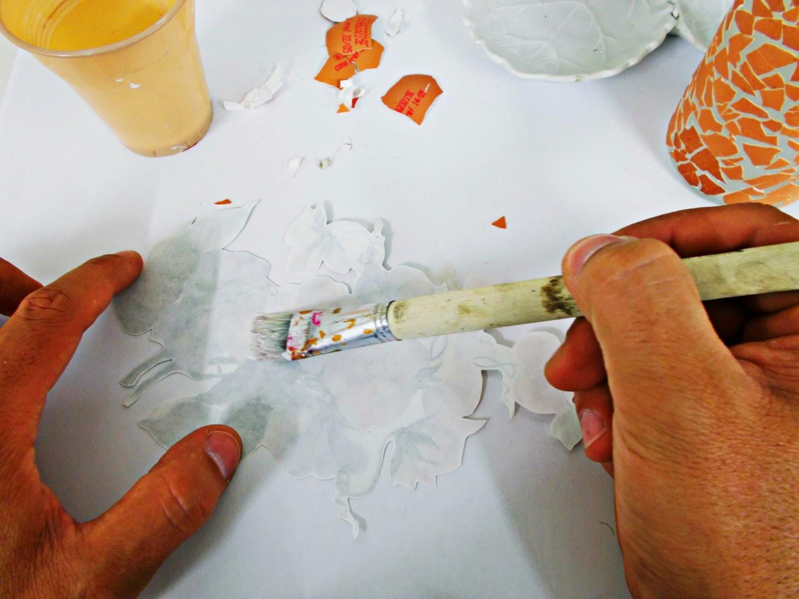 DIY-ideas decoración-reciclaje-diogeneras-botella-cristal-vidrio-cáscaras de huevo-decoupage-3