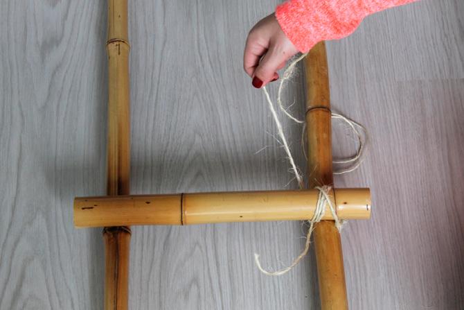 DIY ESCALERA BAMBU