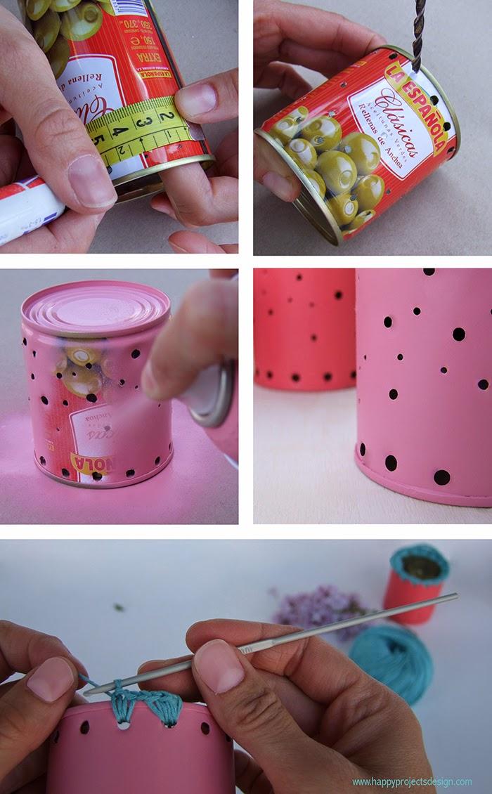 DIY farolillos con latas