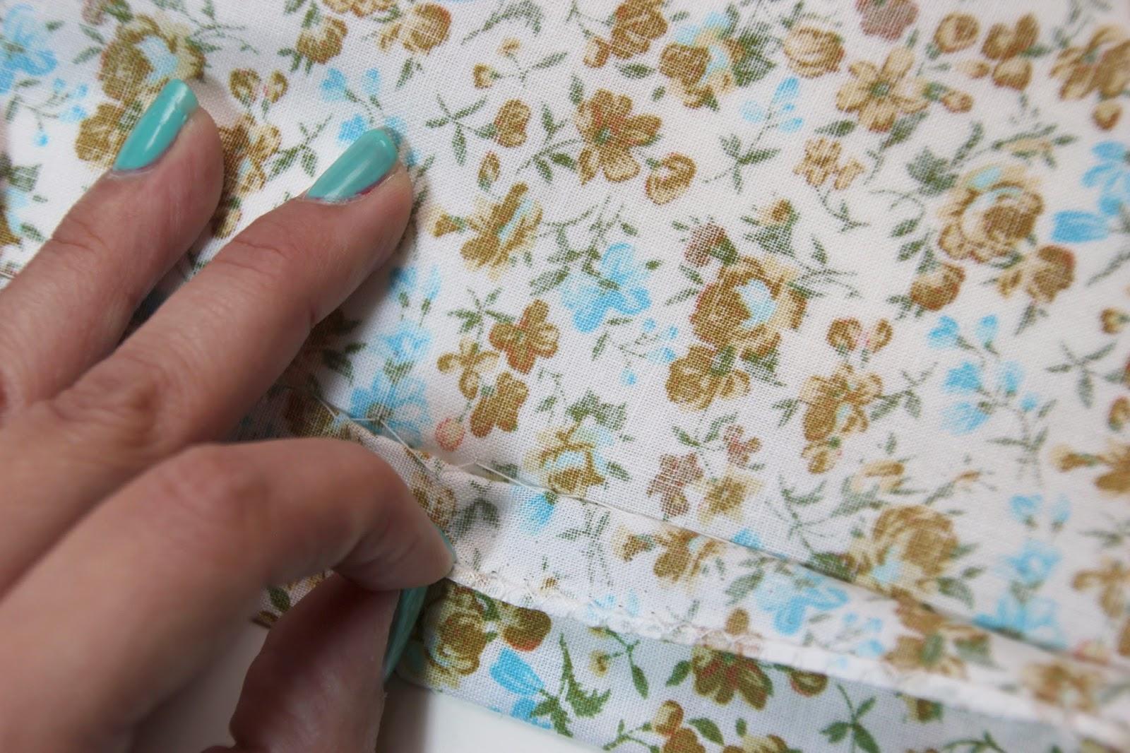Cómo hacer un dobladillo ciego o escondido. Como hacer puntada escondida o puntada ciega.