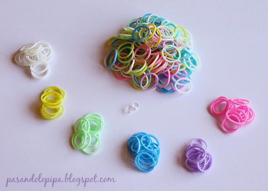 pasandolopipa | DiY Loom bands o pulseras de gomitas (material)