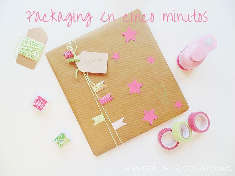 packaging sencillo con washitape y estrellas