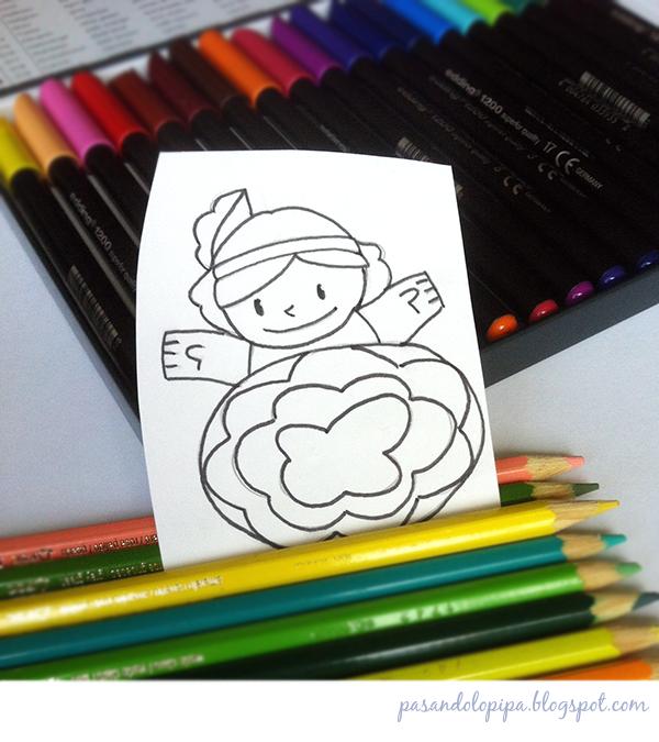 pasandolopipa | dibujo de muñeca listo para colorear