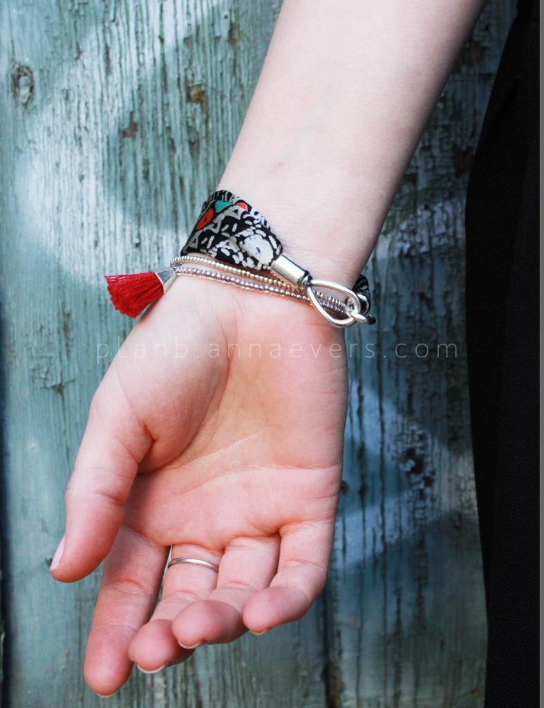 Plan B anna evers DIY Fabric bracelet DIY