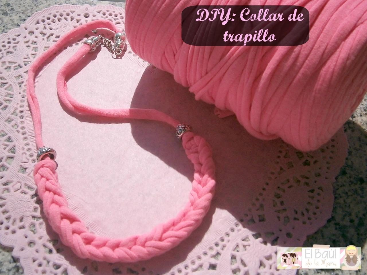 465857240dbf DIY  Collar de moda  Collar de Trapillo Flúor - HANDBOX
