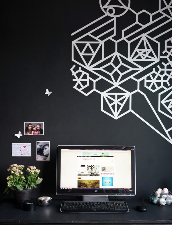 Nuestra oficina: muro de pizarrón con vinilo decorativo | Casa Haus