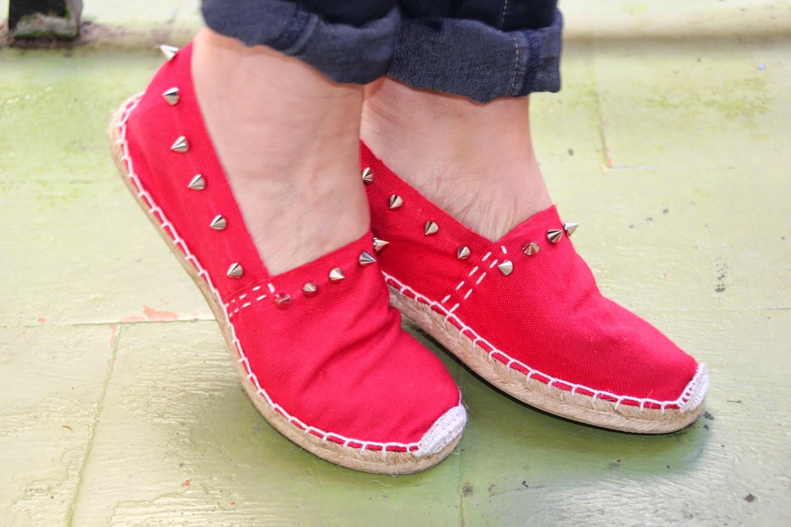 Diy zapatos esparteñas esparto tachuelas. Blog diy