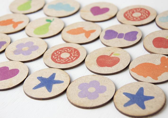 Juego De Memoria Para Ninos Con Maderitas Handbox Craft Lovers