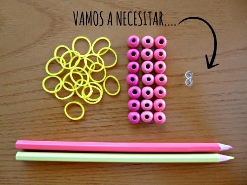 DIY Pulsera de gomitas y cuentas rainbow loom brazalet
