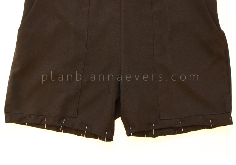 Plan B anna evers DIY short overalls with pockets step 7