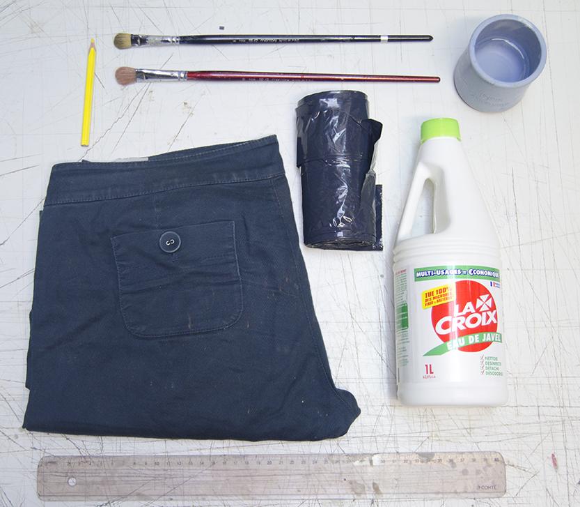 diy materiales lejia pantalones estampados00