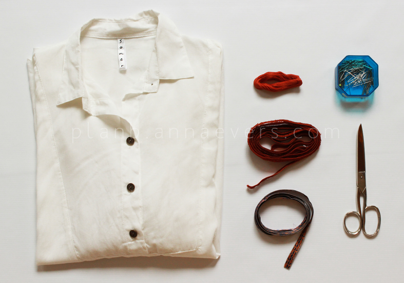 Plan B anna evers DIY Boho shirt materials