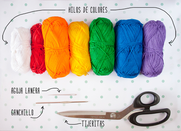 Rainbow garland pattern by I am a Mess