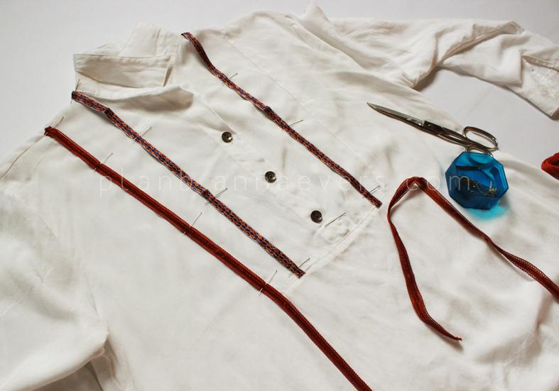 Plan B anna evers DIY Boho shirt step 1