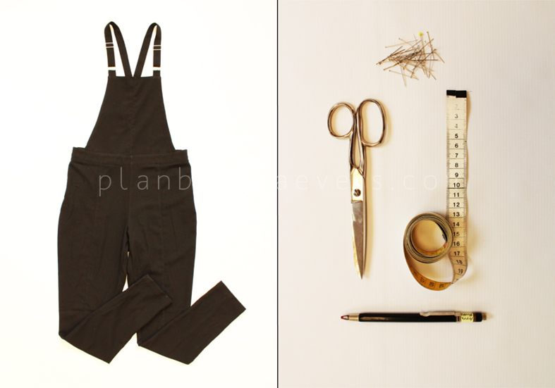 Plan B anna evers DIY short overalls with pockets materials