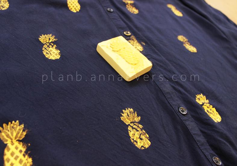 Plan B anna evers DIY Pineapple stamp step 8
