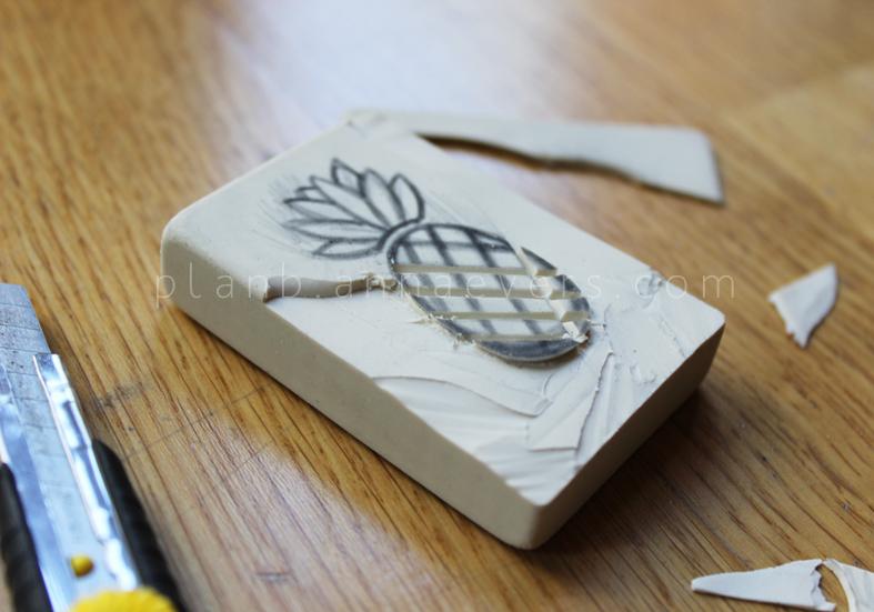 Plan B anna evers DIY Pineapple stamp step 4