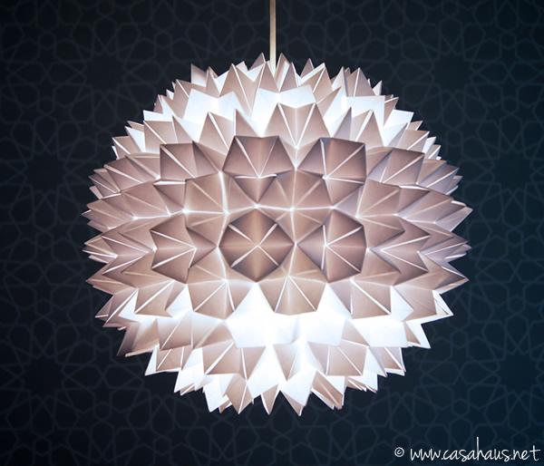 Lámpara de origami para Deco Hogar por Rocío Jiménez de Casa Haus