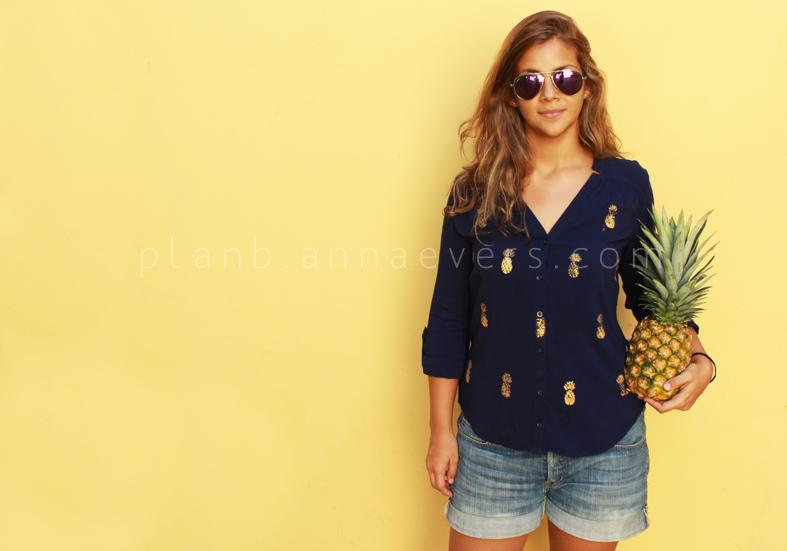 Plan B anna evers DIY Pineapple stamp ,