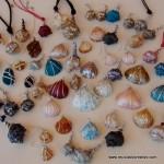 Caracolas de mar convertidas en colgantes para collares - Seashell as a pendant necklace