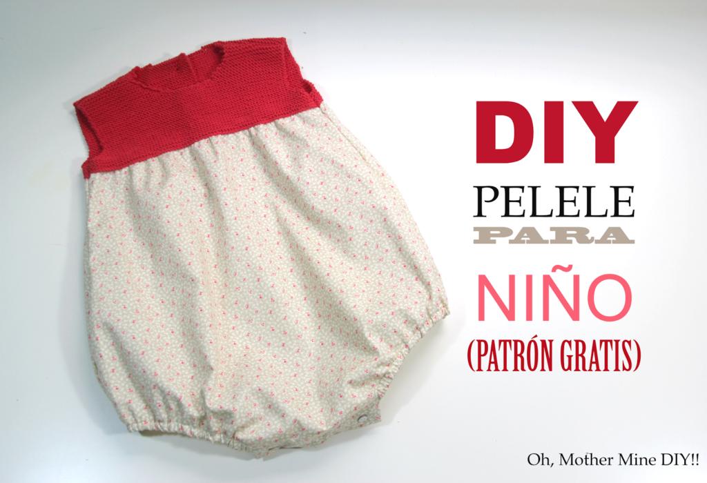 130b1ec25 DIY Pelele para niño  Punto y tela (patrones gratis) ...