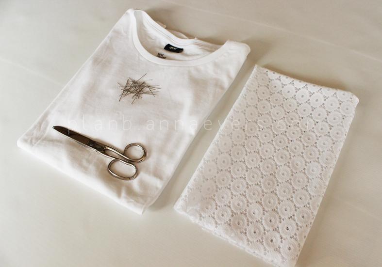 Plan B anna evers DIY Eyelet Tshirt  materials