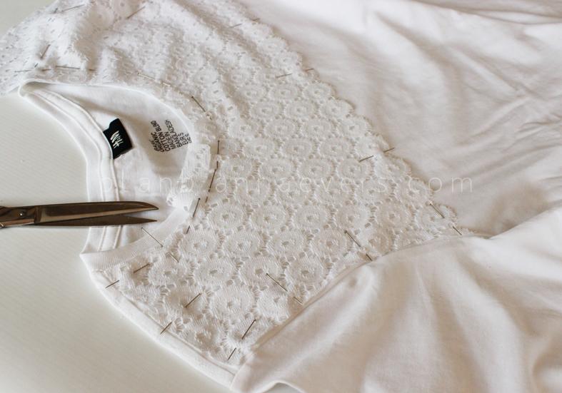 Plan B anna evers DIY Eyelet Tshirt  step 4