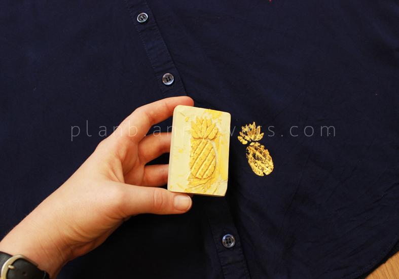 Plan B anna evers DIY Pineapple stamp step 7