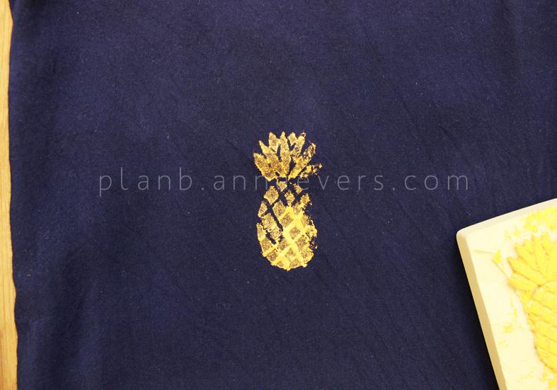 Plan B anna evers DIY Pineapple stamp step 9