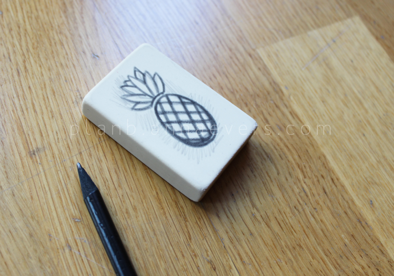 Plan B anna evers DIY Pineapple stamp step 2