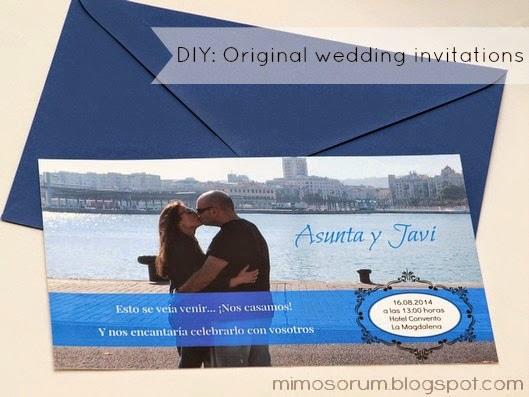 Invitaciones de boda originales.  DIY: Original wedding invitations