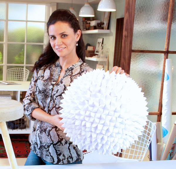 Rocío Jiménez origami pendant / lámpara de origami / Casa Haus