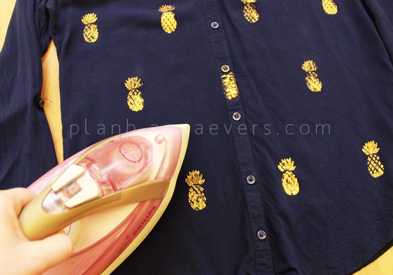 Plan B anna evers DIY Pineapple stamp step 10