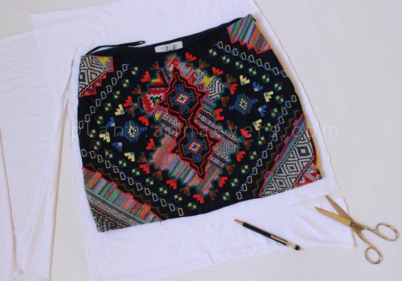 PlanB anna evers DIY Eyelet skirt step 2