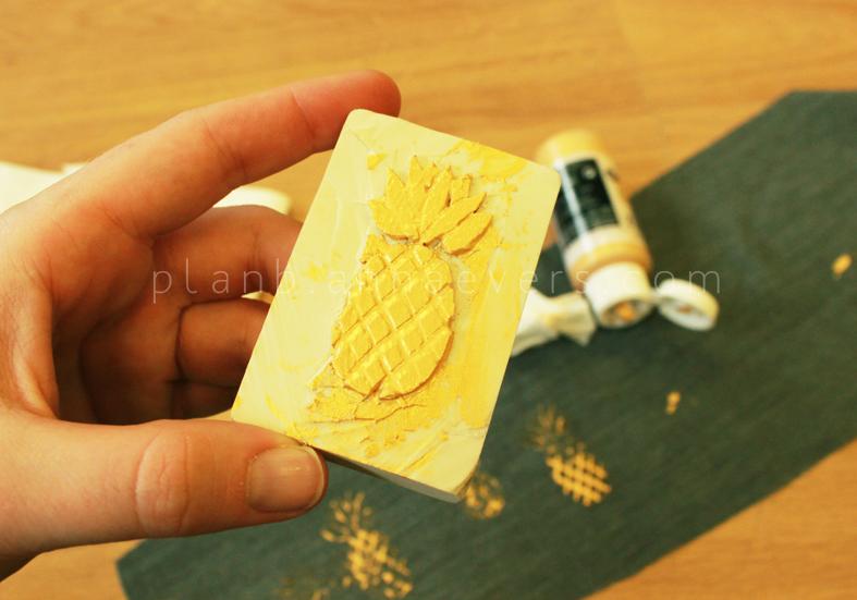 Plan B anna evers DIY Pineapple stamp step 5
