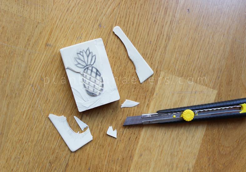 Plan B anna evers DIY Pineapple stamp step 3