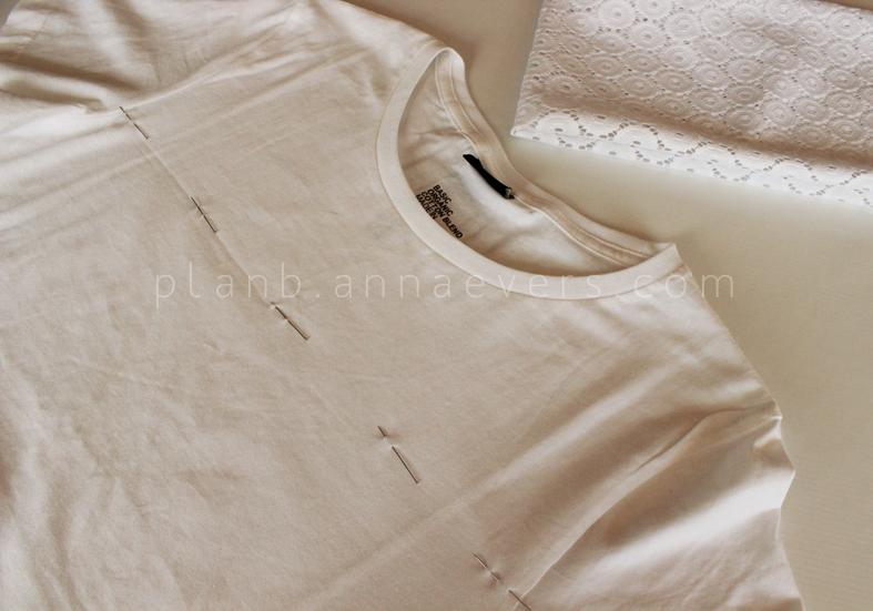 Plan B anna evers DIY Eyelet Tshirt  step 1
