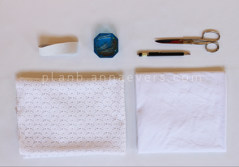 PlanB anna evers DIY Eyelet skirt step 1