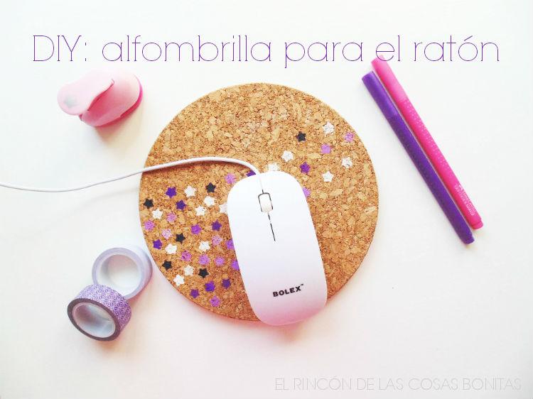 alfombrilla de ratón handmade con un corcho
