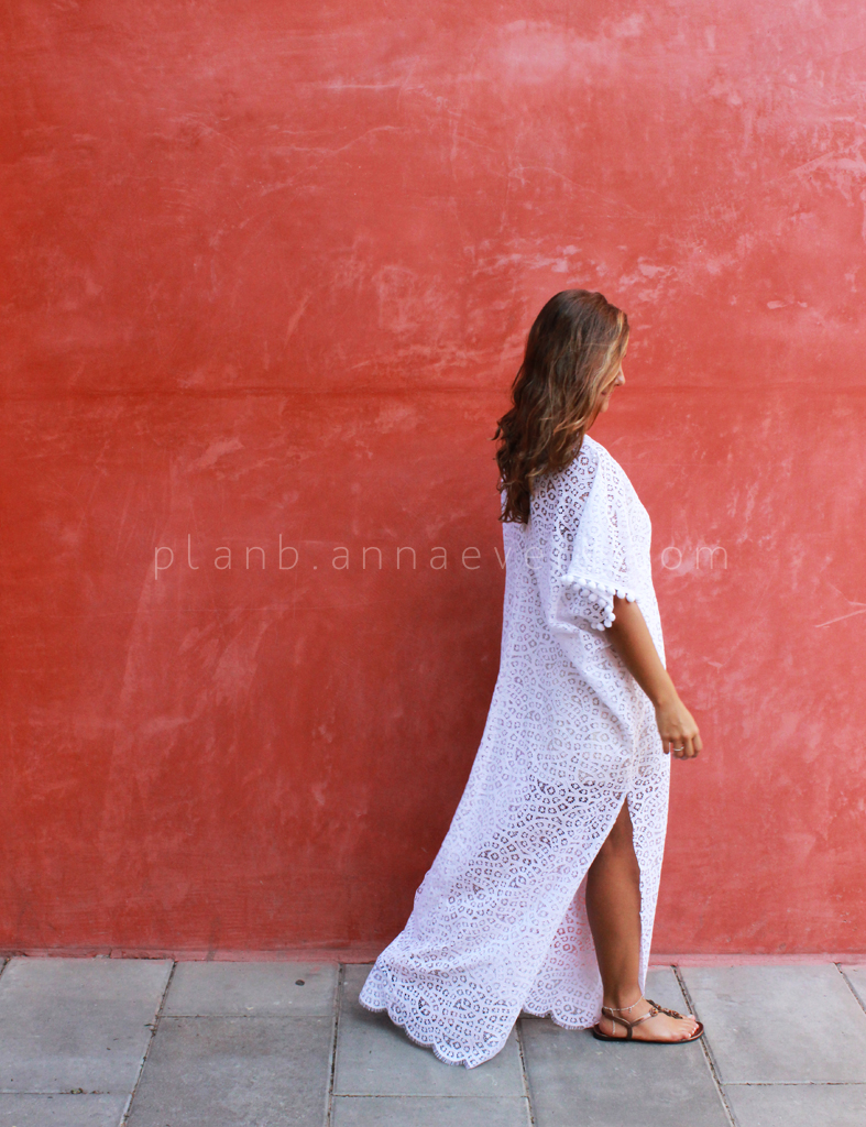 Plan B anna evers DIY Lace kaftan .