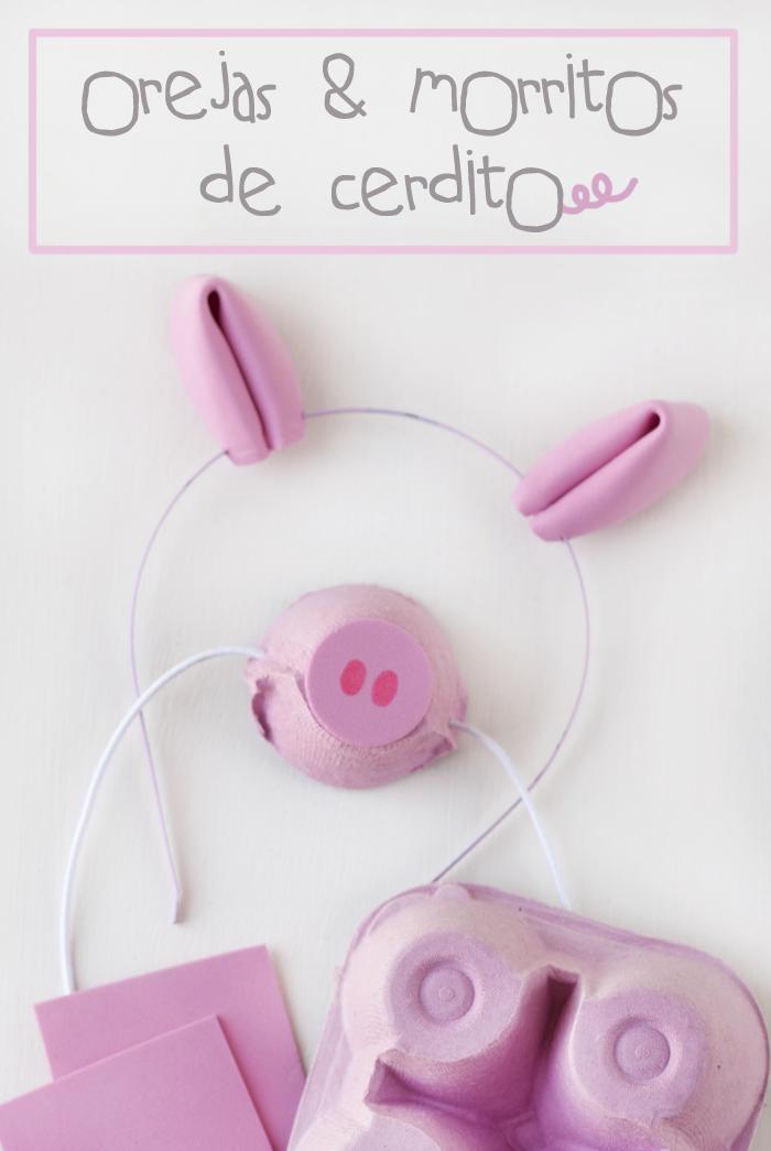 tutorial diy: orejas y morritos de cerdito - Handbox Craft Lovers ...