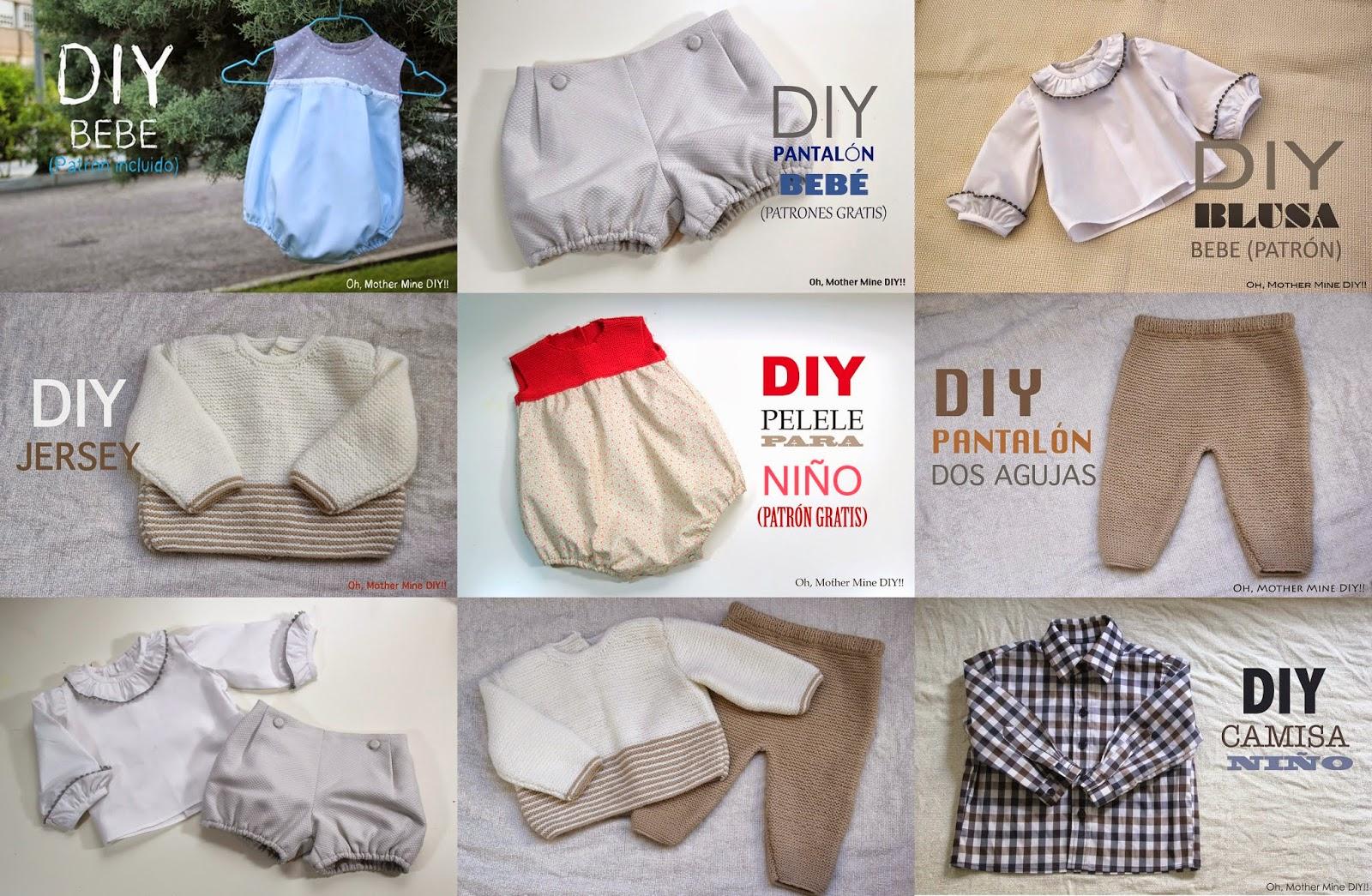 a706a0dea Patrones y tutoriales de ropa para niños y bebés gratis - HANDBOX