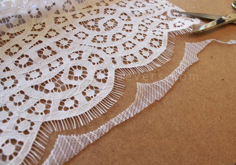 Plan B anna evers DIY Lace kaftan step 8