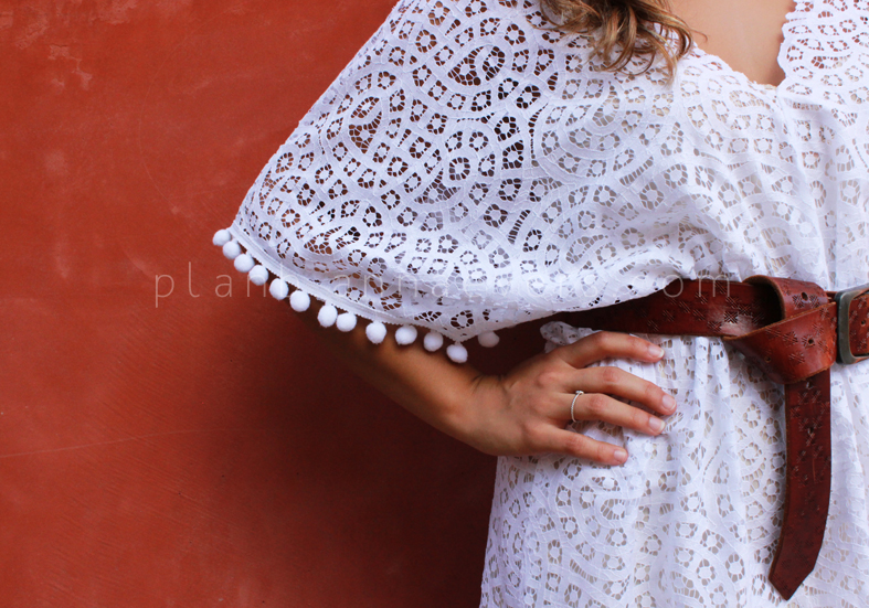 Plan B anna evers DIY Lace kaftan  zoom