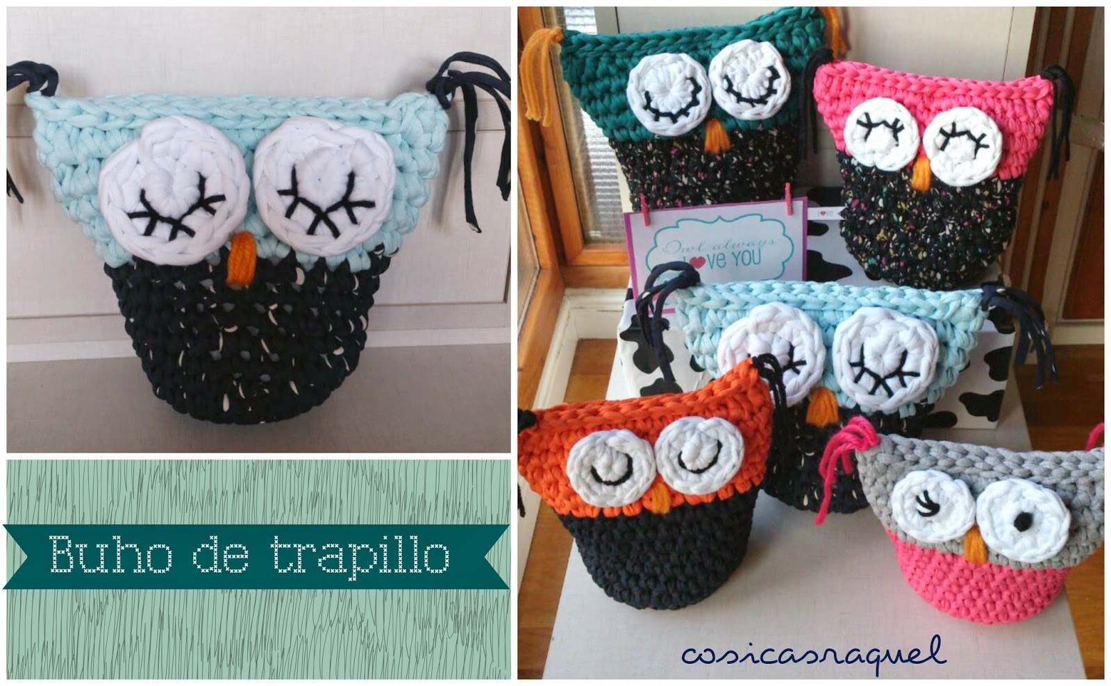 diy búho de trapillo fácil - Handbox Craft Lovers | Comunidad DIY ...