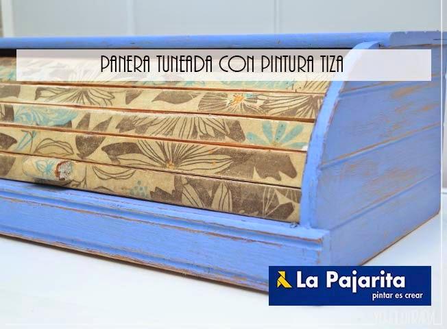 panera tuneada con pintura de tiza tipo chalk paint